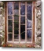 Disused Watermill Window Metal Print