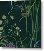Ditchweed Fairy Cattails Metal Print