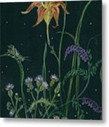 Ditchweed Fairy Daylily Metal Print