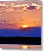 Divine Sunset On The Indian River Bay Metal Print