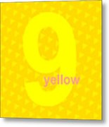 Divine Yellow Number Nine Metal Print