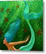 Diving Mermaid Fantasy Art Metal Print