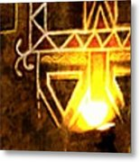 Diwali Lamps And Murals Blue City India Rajasthan Wide 2e Metal Print
