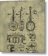 Dixie Banjolele Patent 1954 In Weathered Metal Print