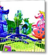 Dizzy Dragon Ride 1 Metal Print