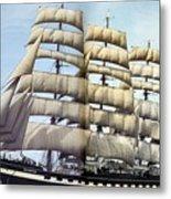 dk tall ships kruzenshtern barque lyr 1926 full D K Spinaker Metal Print