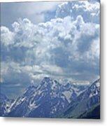 Dm9233 Clouds Over Mt. Moran V Metal Print