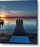 Dnr West Boat Launch Sunrise Metal Print