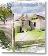 Do-00027 Old Cottage Metal Print