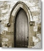 Do-00055 Chapels Door In Morpeth Village Metal Print
