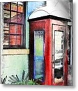 Do-00091 Telephone Booth In Morpeth Metal Print