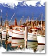 Do-00096 Boats In Nelson Bay Early 90s Metal Print