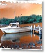 Do-00108 Boat At Sunset Metal Print