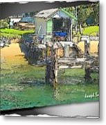 Do-00128 Boatshed At Brisbane Water Metal Print