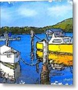 Do-00147 Resting Boats Metal Print