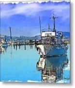 Do-00231 Hvk Boat Gosford Metal Print