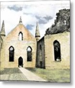 Do-00244 Abandoned Church Metal Print