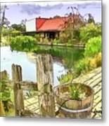 Do-00251 A Farm In Hunter Valley Metal Print