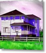 Do-00258 House In Grindelwald Swiss Village Metal Print