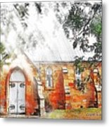 Do-00264 Ghostly Look Of St John Church Metal Print