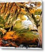 Do-00268 Trees On Water In Avoca Estuary Metal Print