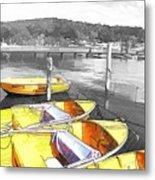 Do-00279 Yellow Boats Metal Print
