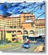 Do-00288 Crowne Plazza From A Hill Metal Print