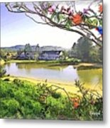 Do-00289 The Clan Lakeside Lake Lodge Metal Print