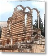 Do-00302 Ruins In Anjar Metal Print