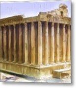 Do-00312 Temple Of Bacchus In Baalbeck Metal Print