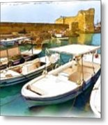 Do-00350 Byblos Port Metal Print