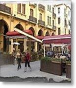 Do-00352 Downtown Coffee Shops Metal Print