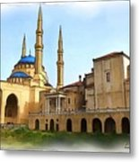 Do-00362al Amin Mosque And St George Maronite Cathedral Metal Print