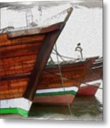 Do-00476 Abra Dhow Boats Metal Print