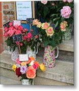 Do Not Touch The Floral Display Metal Print