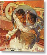 Doc Savage The Black Spot Metal Print