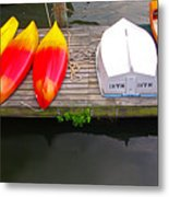Dock And Boats Metal Print