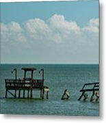 Dock By The Sea Metal Print