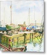 Dock Gate Dysart Harbour Fife Metal Print