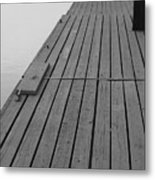 Dock In Black And White Metal Print