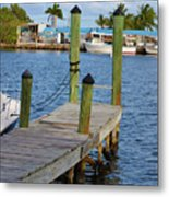 Dock In The Keys Metal Print