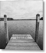 Dock No Diving  Metal Print