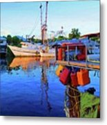 Dock Of Color Metal Print