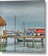 Dock Of The Sea Metal Print