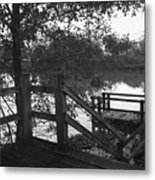 Dock On The Bayou Metal Print