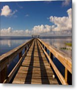 Dock On The Lake Metal Print