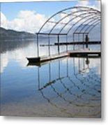 Dock Reflection Metal Print