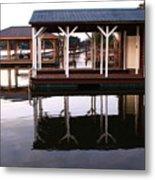 Dock Reflections Metal Print