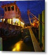 Dock Side Metal Print
