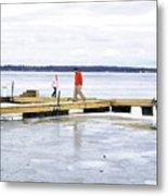 Dock Walking  Metal Print